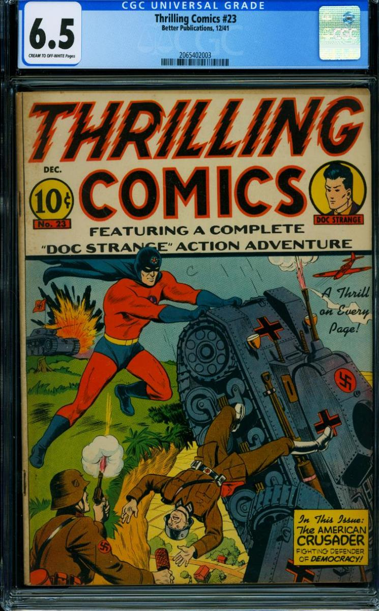 Cover Scan: THRILLING COMICS #23